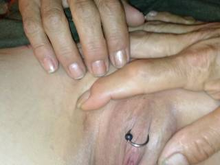 Mmmm I just LOVE your shaved pierced pussy....I'd love to get to know it better! ;)