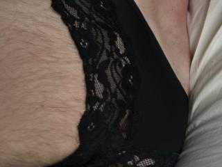 Having fun in my wifes panties. :) x