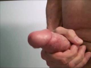 Two minutes of dripping, oozing...followed by strong spurts of cum.