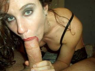 Wow Wow Wowzer!!! What stunning lips, beautiful lady and a massive cock! Perfect threesome!! xxx