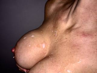 great load all over Mrs tits!!