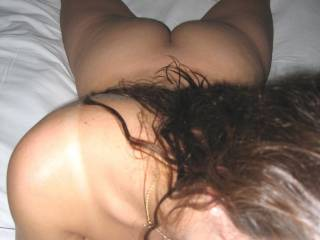 Nice view of her body while she has my dick in her mouth