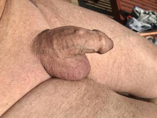 The sun on my cock is getting me horny I wonder what eles would
