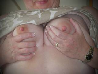 My Sweet Wife Mary\'s tits!  Would you suck them?