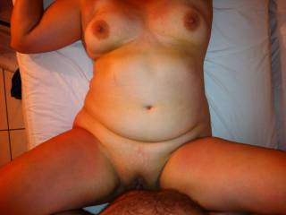 Fucking Nat\'s shaved, hot and wet pussy. Nat was hot, horny and wet that night.