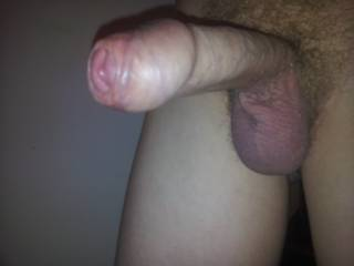 a very hot pic of your very sexy cock... i'd love to suck it till you blow.