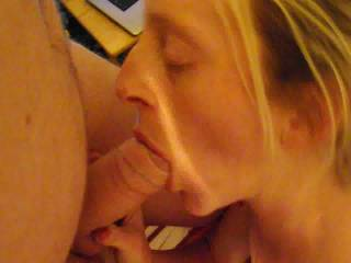 It's so beautiful to see her enjoying a good hard and fat cock in her mouth, savoring the good pre-cum and loving every second of it. I hope we can see her with another male in bed sooner than soon.
