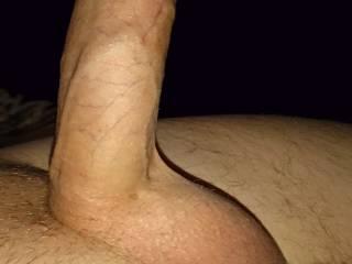 My uncut cock wanna cum