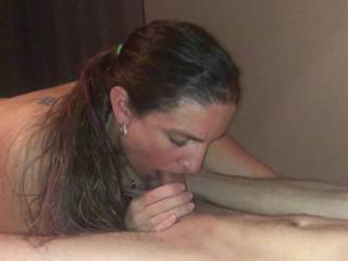 slut wife blows friend again