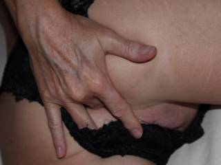 Just a little finger play in my ass, maybe you can fit your cock in my pussy now!