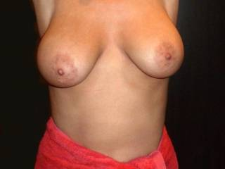 fuck...you have some fine tits.......only thing to make them any better is to slide my cock between them..... :)