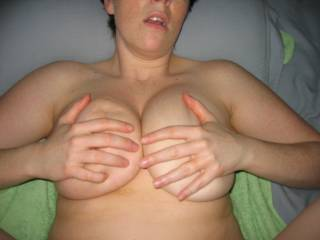Like to straddle her chest and slide my cock between those lovely big titties
