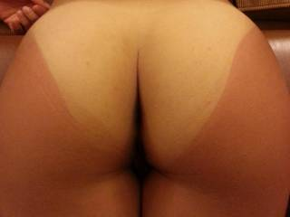 Daaaaaaamn that is one of the most delicious ass' I have ever seen and the tan lines make it even better...yummy!!