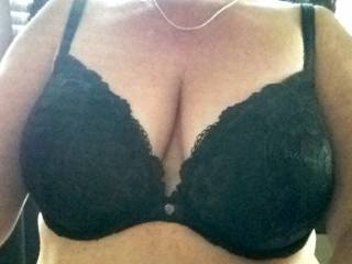 Me standing behind you, kissing your neck and caressing your breasts through your bra .. Then you would ...???