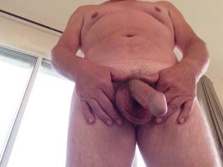Nice cock...love to suck it...pleasure an old man?