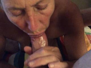 Giving me another great blowjob