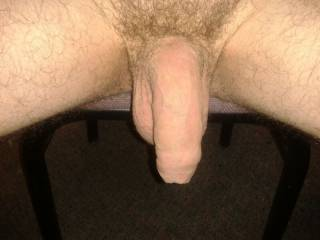 My soft cock hanging out