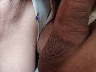 Wife licking my dick, she loves that !!!