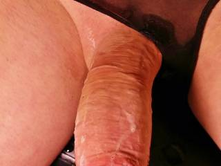 Edging and dripping precum all over my cock