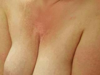 Squeeze my milk filled tits together... what would you do next?