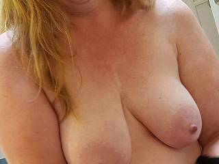 Do you want me to squeeze them together for you?  I love the feel of a nice big cock between my tits.  💋💋💋