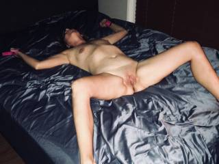 Wife loves to be strapped down to the bed