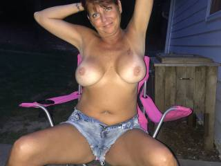 Sexy as wife showing her tan lines