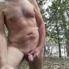 Taking a break while hiking naked.
