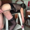 Bondage and big dildos pt 5 of 5 - Still tied to the bench, part 5 is mainly face fucking, a few trips to her pussy and ass then back to her mouth and then 4 minutes of face fucking till I cum. Fun!