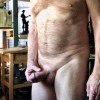 In the kitchen and got horny and started fondling my cock while coffee brewed.